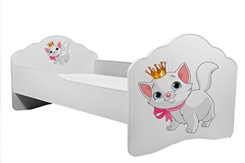 Bett für Kinder  Kätzchen  Kinderbett Größe 160x80 cm mit einer Matratze