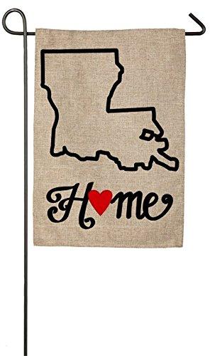 Evergreen Louisiana State of My Heart Burlap Garden Flag, 12