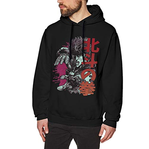 Bakugou Anime Fist of The North Star Kenshir Men's Pullover Long Sleeved Sweatshirts Hoodies Black (Fist Of The North Star Kens Rage Cheats)