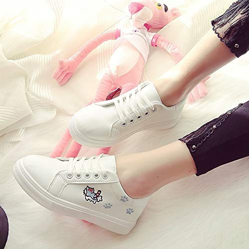 Black Sneakers ZHZNVX Mujer de Zapatos Negro Poliuretano Spring Comfort PU Heel Blanco Flat Rosa 0rrOw