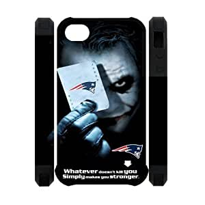NFL New England Patriots With Joker Poker Unique Design For Apple Iphone 5C Case Cover Dual- 3D Polymer Back Case For Christmas Gifts
