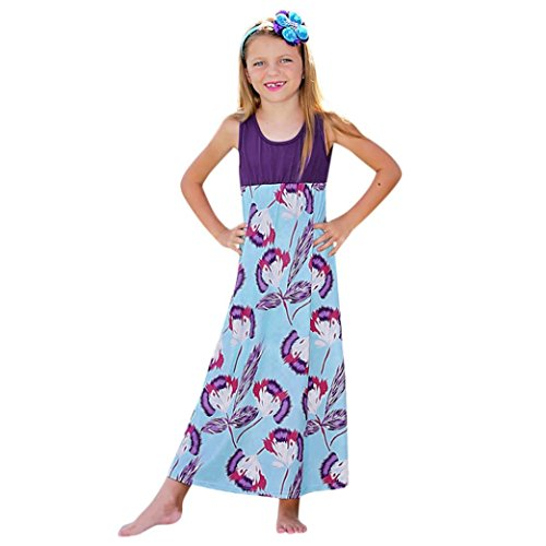 Beach Maxi t Vrac Imprim Baby Col Robe sans Robes Femmes en Lenfesh Rond DContract Manches qT5xEwOWg