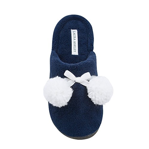 Back Ladies Sizes Pompoms Open Cushioned Blue Terry Colors Cosmos Slippers More Laura Ashley See 5UwqHxXH