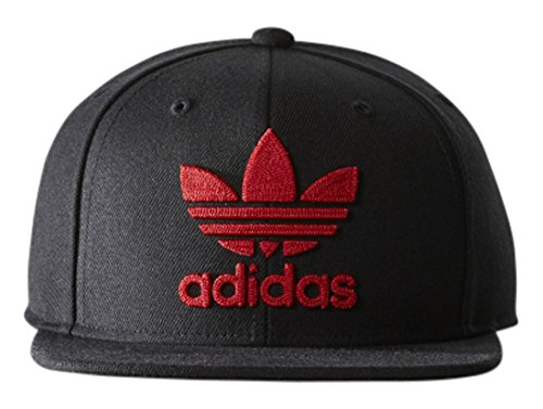 6f047ad7e01 Galleon - Adidas Original Mens Thrasher Chain Snapback Hat Black Red B94088