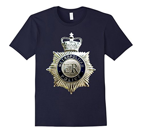 Mens British UK London Metropolitan Police Badge T-Shirt 3XL - Police Uk Shop
