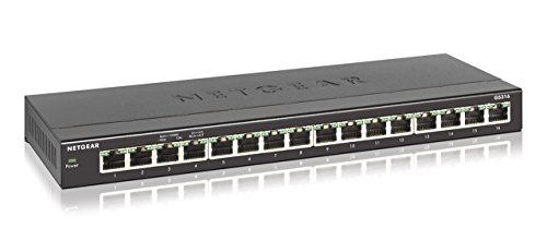 10 Router Port (NETGEAR 16-Port Gigabit Ethernet Unmanaged Switch, Desktop (GS316) (Certified Refurbished))