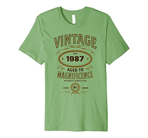 Mens Vintage Aged To Magnificence 1987 31st Birthday Gift T-shirt Large Grass