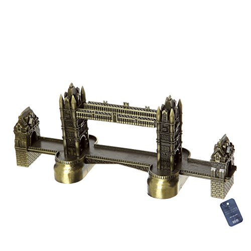 Arch Tower (ZOVIE Liberty Leaning Tower Triumphal Arch Netherlandish windmills Pyramid Twin Tower BurjAl-Arab Metal World Building Model Home Desk Decoration (London Bridge))