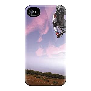 Fashionable Design Motocross Bike In Sky Rugged Cases Covers For Iphone 5/5s New