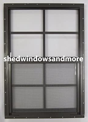 """Shed Window 18"""" X 27"""" Brown Flush Mount, Storage Shed , Playhouse by Shed Windows and More"""