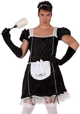 Desconocido Disfraz de sirvienta humorística para hombre: Amazon ...
