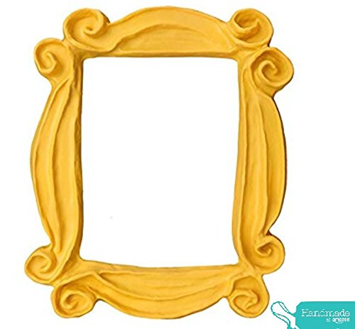 Handmade with Love by Fatima. Yellow Frame. As seen in Monica's Door. Handmade. The Number one Frame. Great Present for a Fan. -
