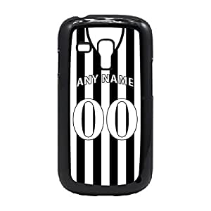 Case Fun Case Fun Personalised Newcastle United Football Shirt, Any Name, Any Number Snap-on Hard Back Case Cover for Samsung GalaxyS3 Mini (I8190)