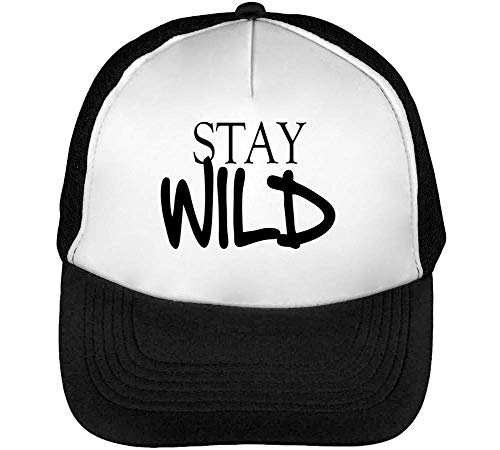 Dope Beisbol Hombre Gorras Wild Stay Snapback Slogan Negro Blanco n4xZ6WIw