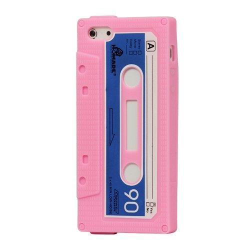 iProtect Silikon Schutzhülle iPhone 5 / 5S Kassette rosa