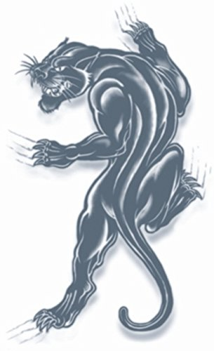Tinsley Transfers Panther Prison Temporary FX Tattoo, Black/White for $<!--$1.99-->