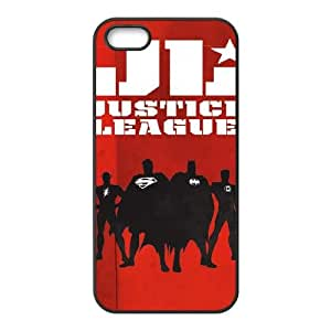 iPhone 5 5S Phone Case Black Justice League Team Silhouette ON6A6XFC Cheap Cell Phone Covers