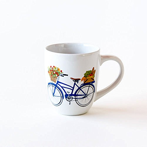 Bicycle Mug Stoneware Mary Lake Thompson Artist 20oz