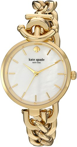 Kate Spade New York Women's Holland Watch, Gold, One Size (Band Designer Link Curb)