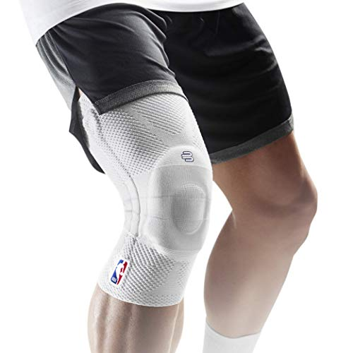 Bauerfeind GenuTrain NBA Knee Brace - Basketball Support with Medical Compression - Sleeve Design with Patella Pad Gel Ring for Pain Relief & Stabilization (White, XS) by Bauerfeind (Image #8)
