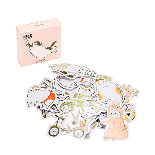 Molshine 270pcs Irregular Stickers Stick Note Decals-Cat's Various Poses Series for Personalize,Sealing Sticker,Laptops,Skateboards,Luggage,Cars,Bumpers,Bikes,DIY,Bicycles,Books