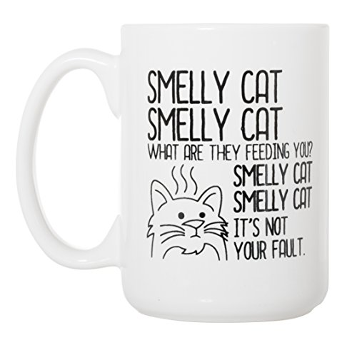 Smelly Cat - Funny Friends TV Inspired - Large 15 oz Double-Sided Coffee Tea ()