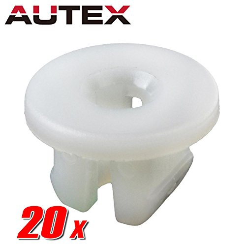 Autex 20pcs Fender Liner Nut Fastener Rivet Push Clips Retainer for Chevrolet Astro Safari Volkswagen Rabbit PickUp Jetta Corrado Cabrio Cabriolet ()