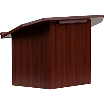 Exceptional Flash Furniture Foldable Tabletop Lectern In Mahogany