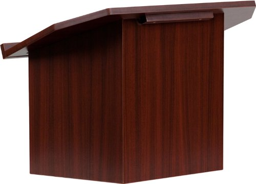 Portable Lectern - Flash Furniture Foldable Tabletop Lectern in Mahogany