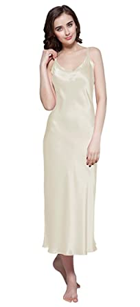 9440474ec59 LILYSILK 100% Mulberry Silk Nightdress Long Ladies Nightgown for Women 22  Momme Pure Silk  Amazon.co.uk  Clothing