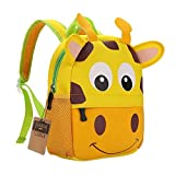 Children's Backpack, TEAMEN Toddler Kids School Bag, Kinder Racksack for 2-4 Years Old (giraffe)