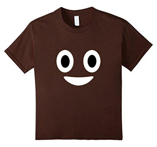 Kids Funny Poop Emoji Halloween T-Shirt Kids 8 Brown