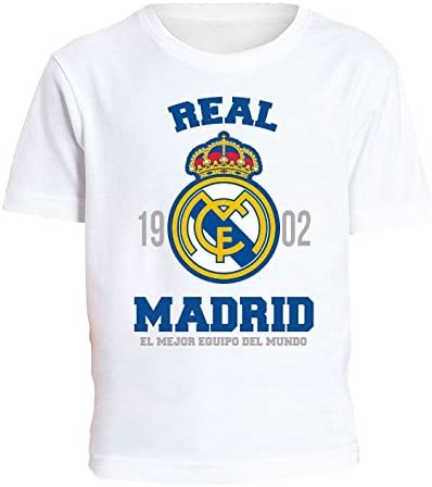 CAMISETA NIÑO REAL MADRID 1902 ALGODON (12): Amazon.es: Deportes y ...