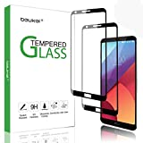 (2 Pack) Beukei for for LG Q6 / Q6 Plus Screen Protector Tempered Glass, Glass with 9H Hardness, with Lifetime Replacement Warranty