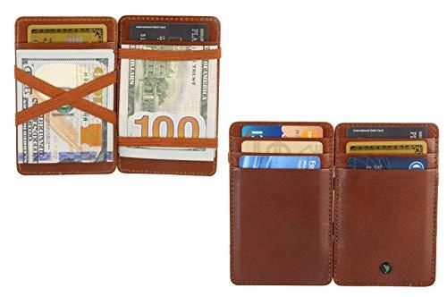 - RFID Blocking Magic Leather Wallet Card Case Sleek Minimalist Leather Wallet