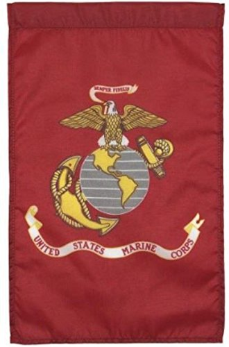 (United States Marines Nylon Embroidered 12 x 18 Inch Garden Flag USMC Military)