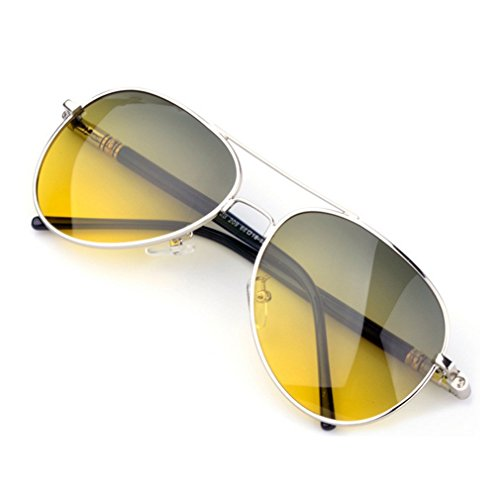 LOMOL Mens UV Pritection Anti-Dazzle Day and Night Amphibious Driving - Cost Costa Sunglasses Do Much How