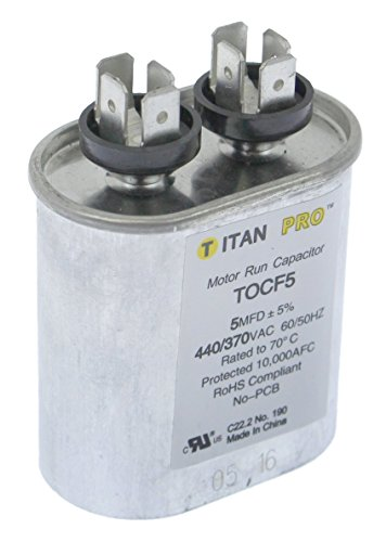 Motor Run Capacitor, 5 MFD, 2-3/4 in. H