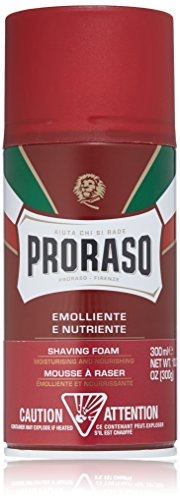 Foam Shave (Proraso Shaving Foam, Moisturizing and Nourishing, 10.6 oz)