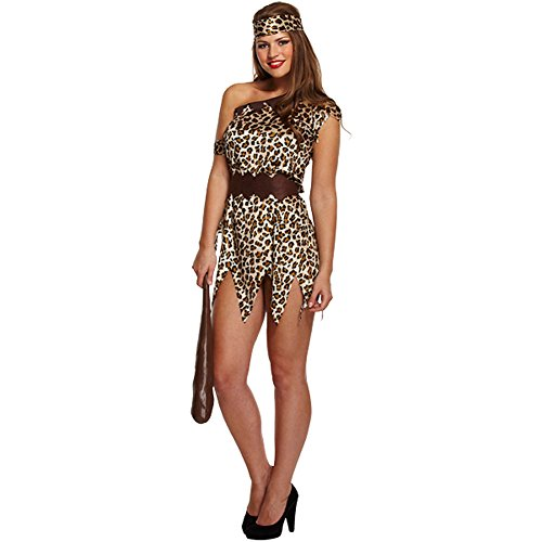 Cave Women Fancy Dress (Cave Woman Fancy Dress Costume (Brown))