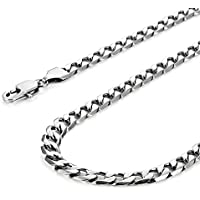 """Urban Jewelry Classic Mens Necklace 316L Stainless Steel Silver Chain Color 18"""",21"""",23"""" (6mm)"""