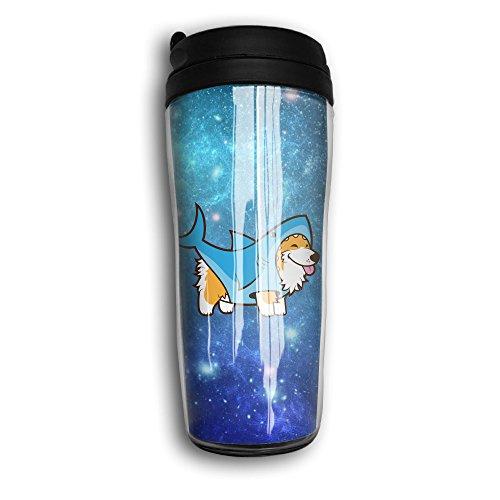 Arkansas 12 Ounce Tumbler (Corgi In A Shark Cute Traveling Cup Coffee Mug Tumbler Insulated Portable,12oz.)