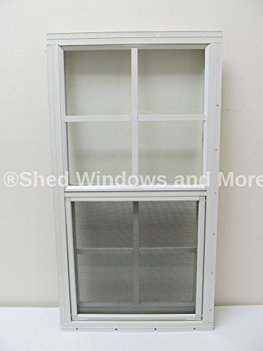 Playhouse Windows And Doors - Shed Window 14 X 27 White Flush