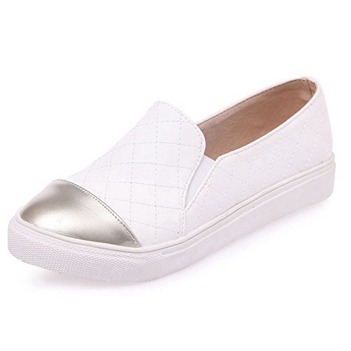 weenfashion-womens-low-heels-pull-on-soft-material-round-closed-toe-pumps-shoes-white-39