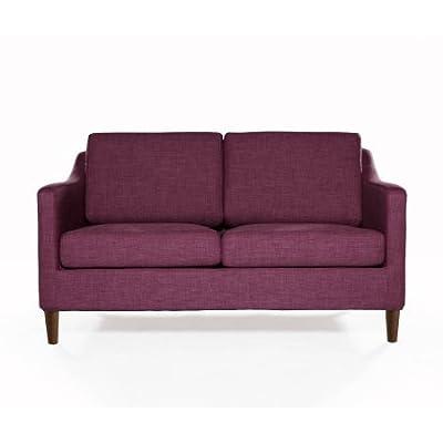 Amazon Com Divano Roma Furniture Velvet Scroll Arm Tufted