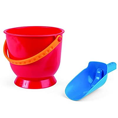 Hape Scoop & Pail Sand and Beach Toy Set Toys, Multicolor: Toys & Games