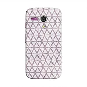 Cover It Up - Triangle Print Purple Moto G Hard Case