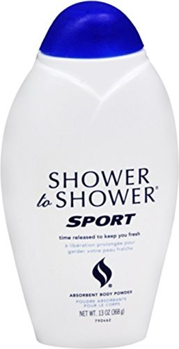 SHOWER TO SHOWER Body Powder, Sport 13 oz (Pack of 4)