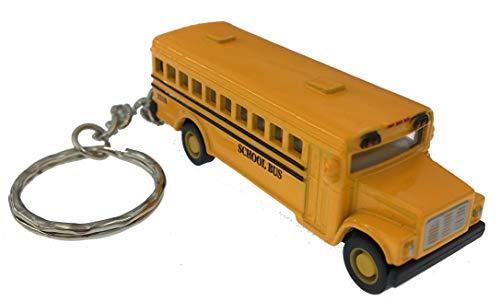 (Mini Diecast School Bus Keychain Pullback by)