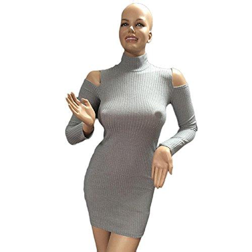 Yogogo Womens Bodycon Cold Shoulder Kleid Dame Partei Abend ...
